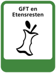 GFT en etensresten sticker