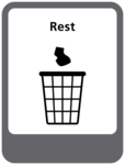 Rest afval sticker