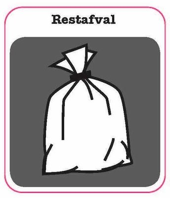 Restafval sticker