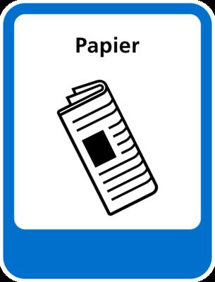 Papier sticker (pictogram volgens IenW)