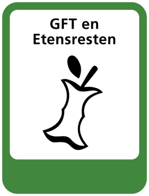 GFT en etensresten sticker (pictogram volgens IenW)