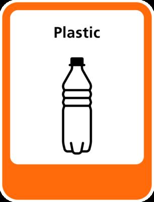 Plastic sticker (pictogram volgens IenW)