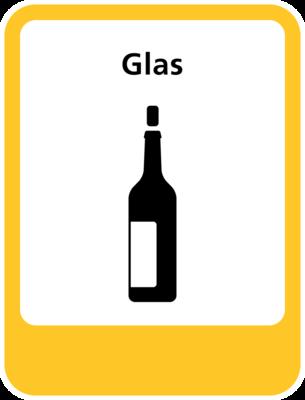 Glas sticker (pictogram volgens IenW)
