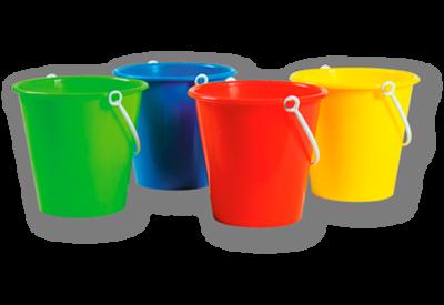 Speelgoed emmer - art. 00200 - ca 1L - Ø 14 cm h 13 cm - met 1 kleur bedrukt