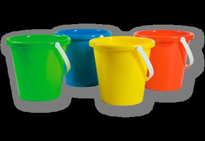 Speelgoed emmer - art. 00202 - ca 2,5L - Ø 19 cm h 17 cm - met 1 kleur bedrukt