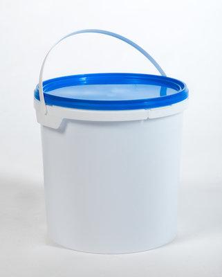 10L verpakkingsemmer met deksel - 1 kleur bedrukt