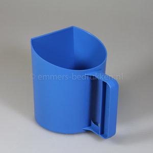 Blauwe voerschep, bekermodel