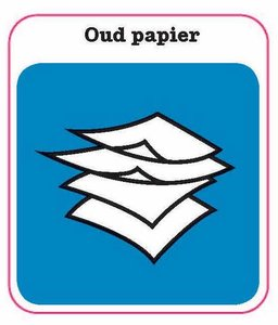 Oud papier sticker
