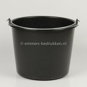 zwarte emmer, 12 liter, Eco