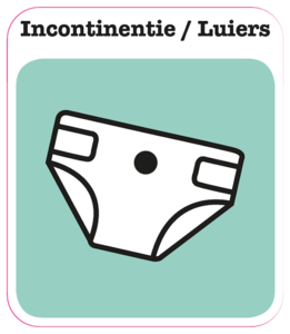Incontinentie-Luiers sticker