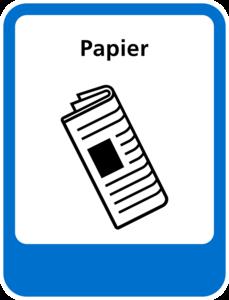 Papier sticker Afvalscheiding