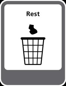 Rest afval sticker