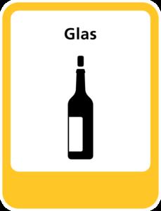 Glas sticker
