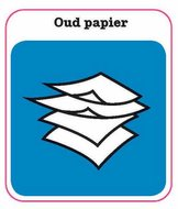 Oud papier sticker