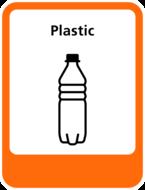 Plastic sticker Afvalscheiding